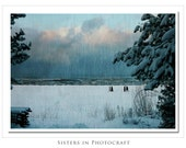 Winter Beach.  Original Fine Art Photograph.