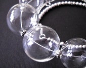 Bubble Glass Necklace Set  Transparent  Handmade Jewelry (UQ)