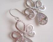 Silver Tiara - Vintage Inspired Crystal Teardrop Earrings