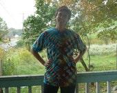Gemstone: Tie Dyed V-Stripe Adult Medium Shirt