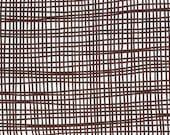 Lotta Jansdotter 1 Yard Echo Fabric Woven in Espresso