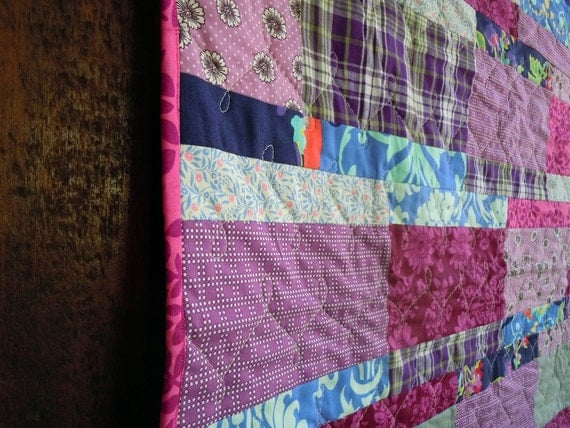 Modern and Lovely Vibrant Purple Crib Quilt