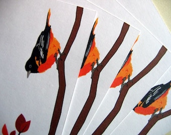 Oriole Note Cards A2 size