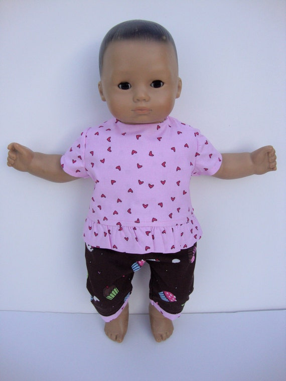 Bitty Baby Clothes Cupcake Capri Set fits 15 inch dolls