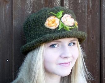 Felted Flowered Hat