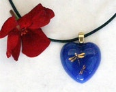 Hearts Aren't Always Red - Fused Glass Pendant