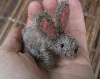 Needle Felted Tiny Bunny