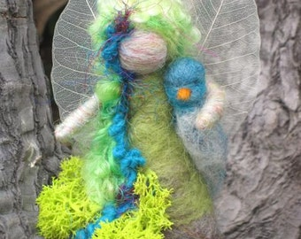 Needle Felted standing Tree Fairy, made to order, Original design by Borbala Arvai