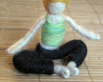 Anne Marie the Needle Felted Yoga Doll