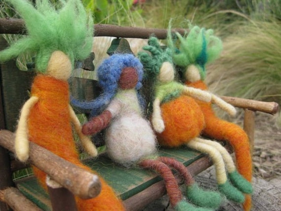 how to make a needle felted carrot