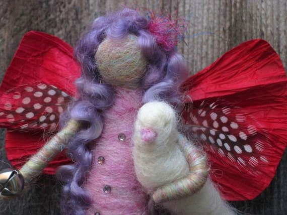 Needle Felted Angel, Peace Angel, Waldorf Winter Fairy, Nature table, Christmas, Holidays, Original design by Borbala Arvai, made to order
