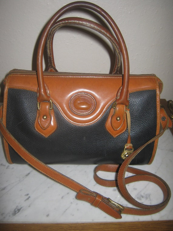 Vintage Dooney/Bourke AWL Original Satchel Shoulderbag Rustic Hobo Shabby Chic Authentic Hippie Retro Purse Handbag