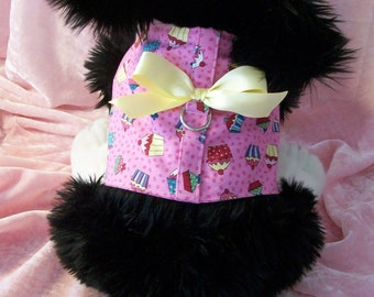 Pink Cupcaes Harness Vest for Dog
