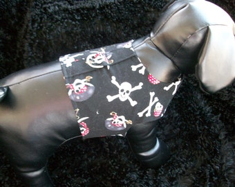 Pirate Harness Vest for Dog or Cat  for boy or girl dog