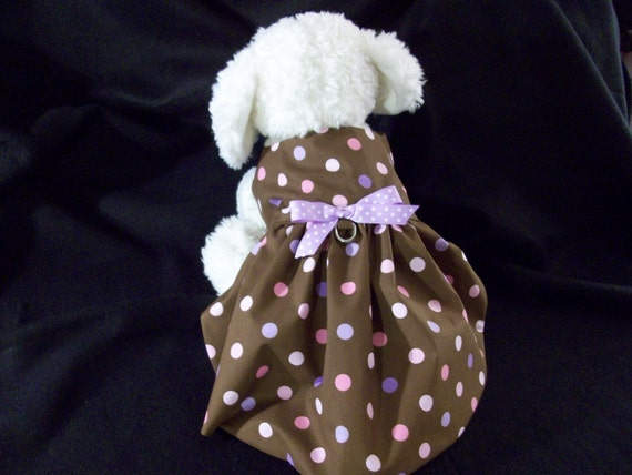 Polka Dot Dog Dress/Harness