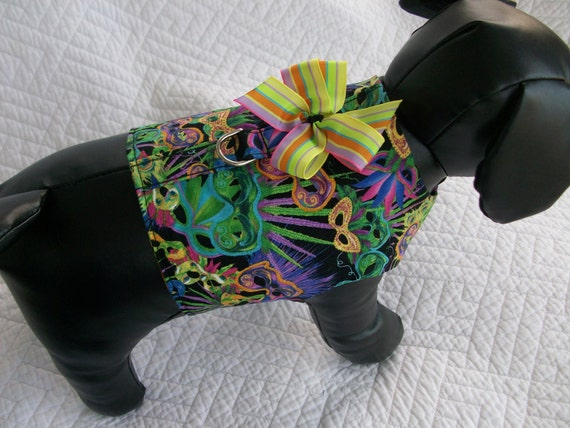 Mardi Gras Harness Vest  Dachshund  Dog Harness Vest Custom Made