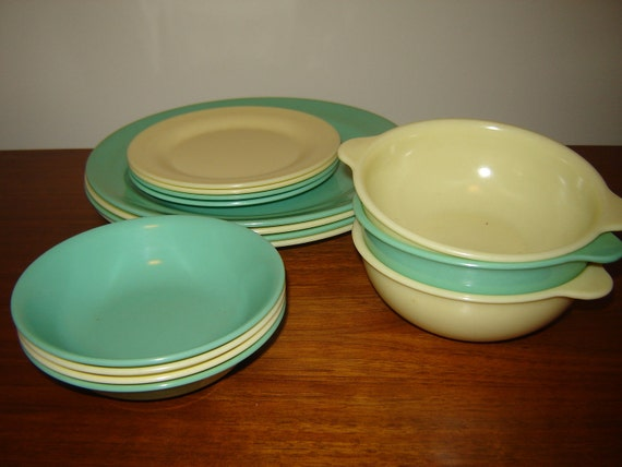 Melamine Melmac Dishes YELLOW ONLY Reserved for Jessie