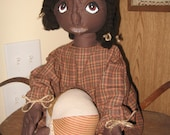 Primitive Black Girl Doll With her Cloth  Ball Tmap Ooak