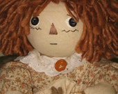 Primitive Country Doll with Home spun Doll