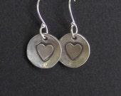 Valentine Teacher Girt - Simple Everyday Silver Earrings - Made to order