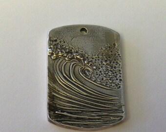 Your Favorite Wave - Custom Silver Pendant