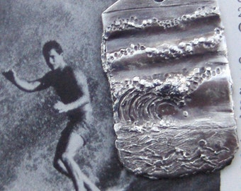 Beach Scene- Custom Made For You - Silver Pendant-Made to Order