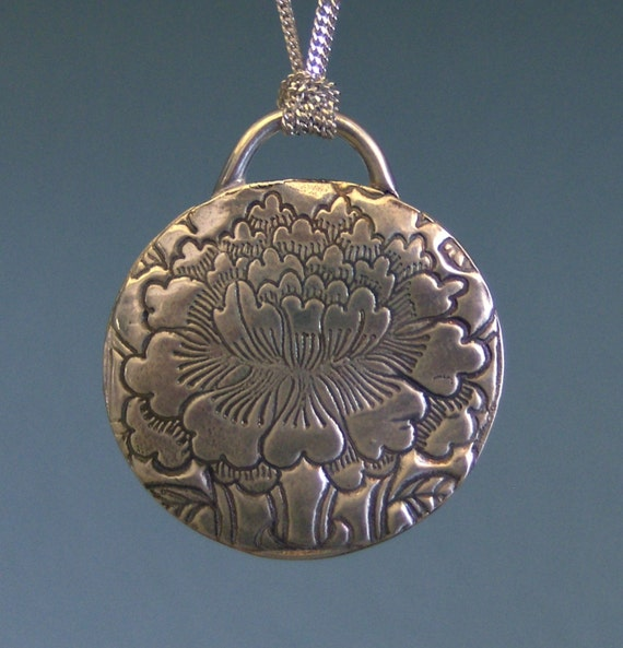 Sacred Lotus Wish Holder Silver Necklace-Made to Order