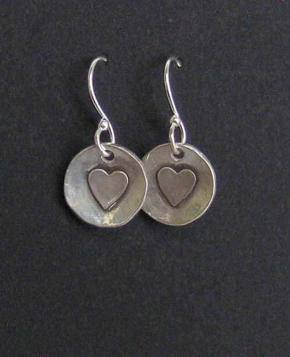Valentine Teacher Girt - Simple Everyday Silver Earrings - Made to order