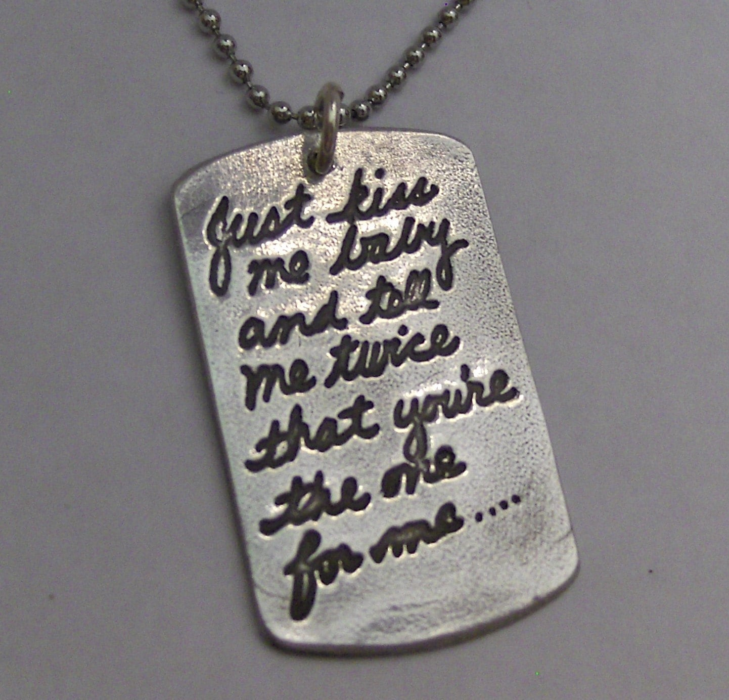 Your Own Writing Love Notesong Lyricspoem Dog Tag Pendant
