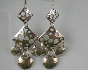 Sterling silver dangle earrings-handcrafted dangle earrings