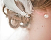 ALISON Bridal Fascinator in Ivory