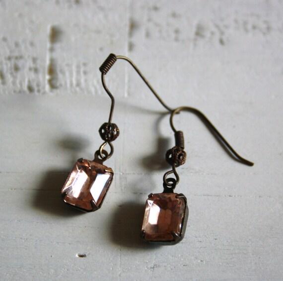 BLUSH Vintage Rhinestone Earrings