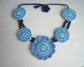 Blue and Aqua  Necklace