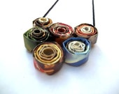 Multi Colored Paper Bead Necklace, Repurposed, Upcycled, Recycled, Eco Friendly, Unique and One of a Kind