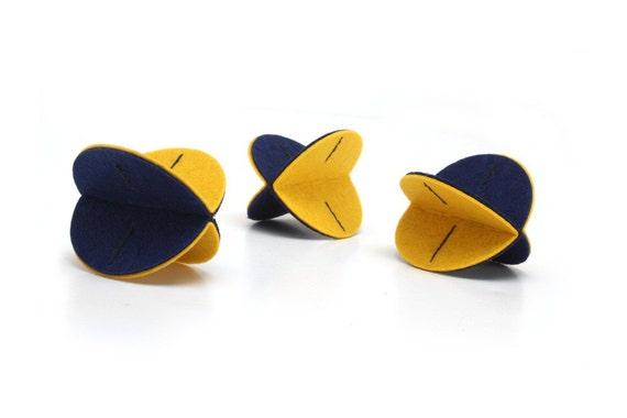 Felt Rollers Cat Toys - Three-pack (Blueberry Lemon)