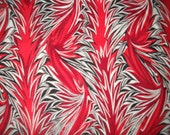 Marbled Alchemy by The Woodrow Studio - Red Black and white fabric 1 yard plus