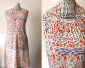 60's Mod Floral Scooter Dress Sz S/M