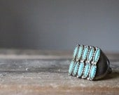 Vintage Oversized Turquoise Adjustable Cocktail Ring