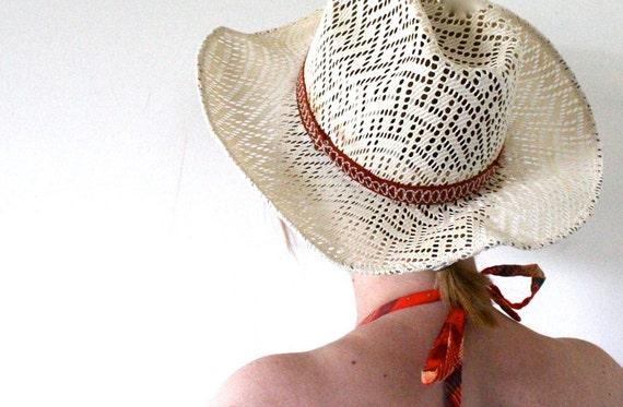 70's Straw Hat