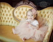 Vintage  pink  super fluffy sewn tutu with silver grey ribboned waist. First tutu, flower girls or a special birthday.
