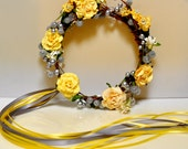 Pastel floral wreath for little girls. Weddings, flower girls, ballet and birthdays.