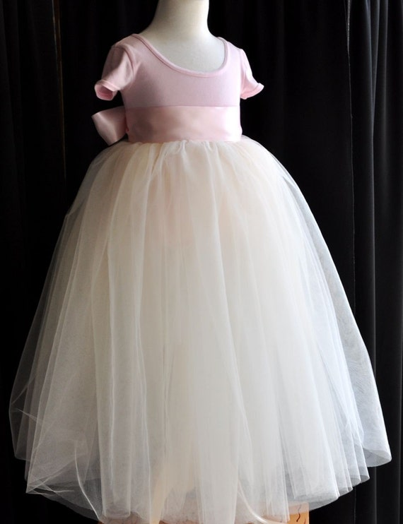 La Petite Princesse. Tutu perfection in pink and ivory for a Flower Girl or real princess.
