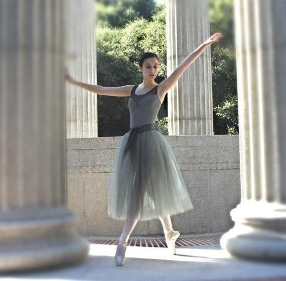 Grey  tulle skirt--tutu for women and teen girls.  An timeless elegant classic skirt.