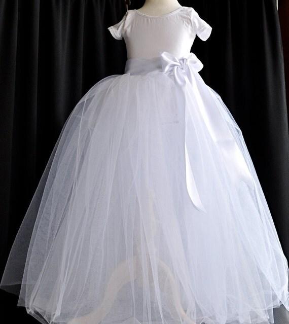 La Petite Princesse. White tutu perfection for a Flower Girl or real princess.