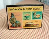 Vintage 50s Kitchen Beaver Topems Cake Toppings in Original Box
