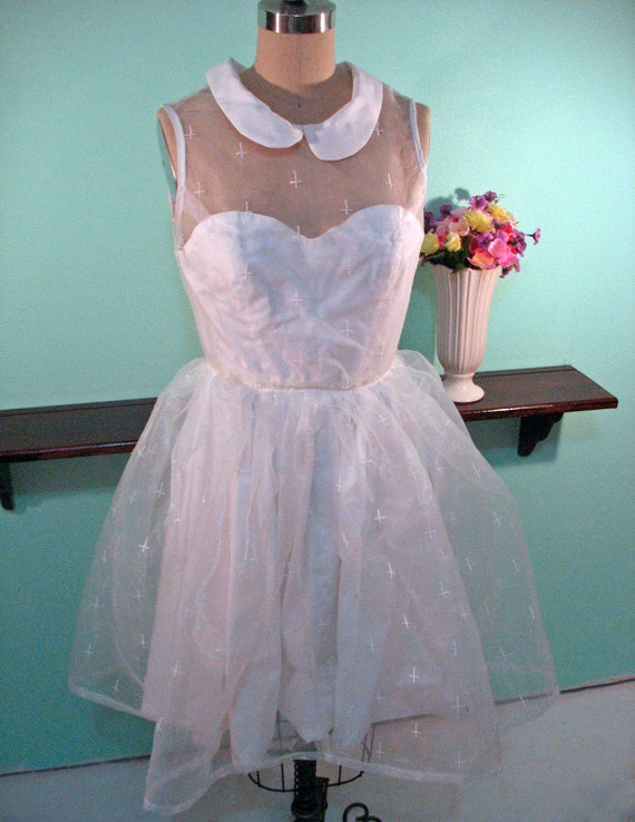 Unholy Baptismal Gown - White Inverted Cross Dress - RESERVED FOR JANNA