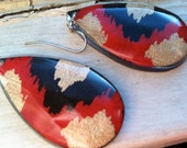 Paper/resin earring - Ikat get enough of you baby