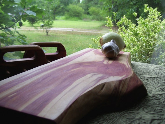 Large Red Cedar Reversible Chef's Board - Serving Board - Bread Board - Cutting Board - Centerpiece
