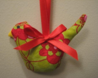 On Sale Now Red and Green Hanging Bird Lavender Sachet