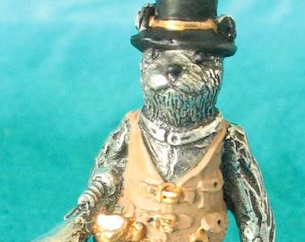 Standing Steampunk Kitty Sculpture